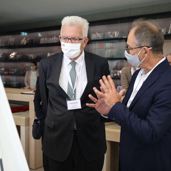 News | Ministerpräsident Winfried Kretschmann zu Gast in der KLS Martin WORLD – schwäbisches Tüftlertum als Erfolgsfaktor