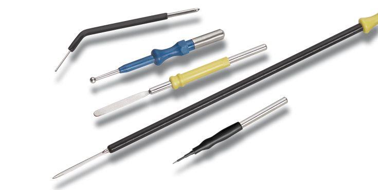 Accesorios para la electrocirugía electrodos monopolares