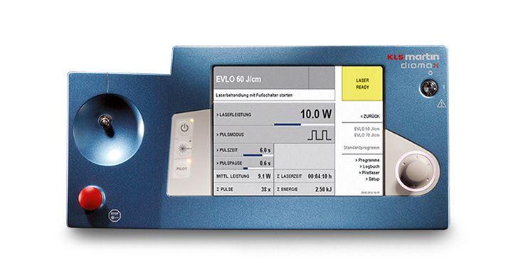 Surgical Laser Systems - diomax Venex 360 EVLO display