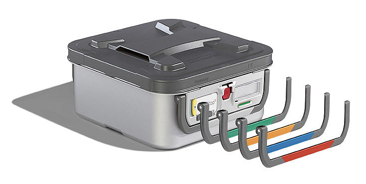 Sterilization container - microStop color coding